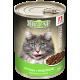 Влажный корм для кошек Big Cat Sterilized «Курица с индейкой», кусочки в желе, 350г