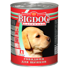 БигДог/Говядина для щенков, 850г