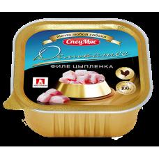 Влажный корм для собак «СпецМяс Деликатес», Филе цыпленка, 150г