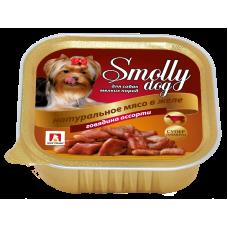 Влажный корм для собак СмоллиДог (Smolly dog), Говядина ассорти, 100г