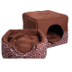 Лежак Домосед (45х45х45см) шоколадный
