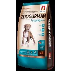 Полнорационный сухой корм для щенков средних и крупных пород Zoogurman Puppy & Junior, ТелятинаVeal_12кг