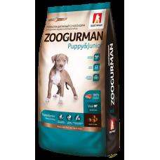 Полнорационный сухой корм для щенков средних и крупных пород Zoogurman Puppy & Junior, Телятина/Veal, 12кг