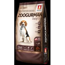 Полнорационный сухой корм для взрослых собак средних и крупных пород Zoogurman Daily Life, ИндейкаTurkey_12кг