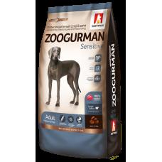 Полнорационный сухой корм для взрослых собак средних и крупных пород Zoogurman Sensitive, с ягненком и рисом/Lamb&Rice, 12кг