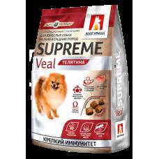 Полнорационный сухой корм для взрослых собак мелких и средних пород Supreme, Телятина/Veal, 1.2кг